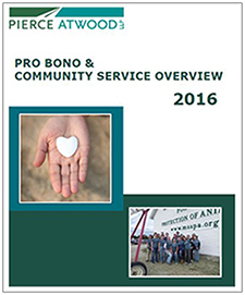 Pierce Atwood 2016 Pro Bono & Community Service Overview