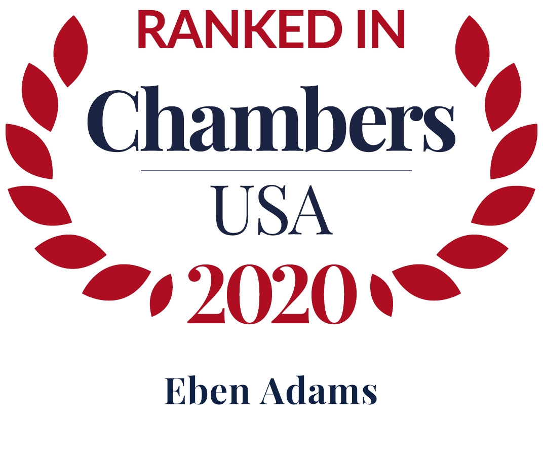 Eben Adams Ranked in Chambers USA 2020