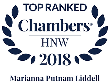 Molly Liddell Band 1 ranking in Chambers 2018 High Net Worth Guide