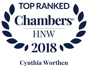 Cindy Worthen Ranked Band 1 in Chambers 2018 High Net Worth Guide