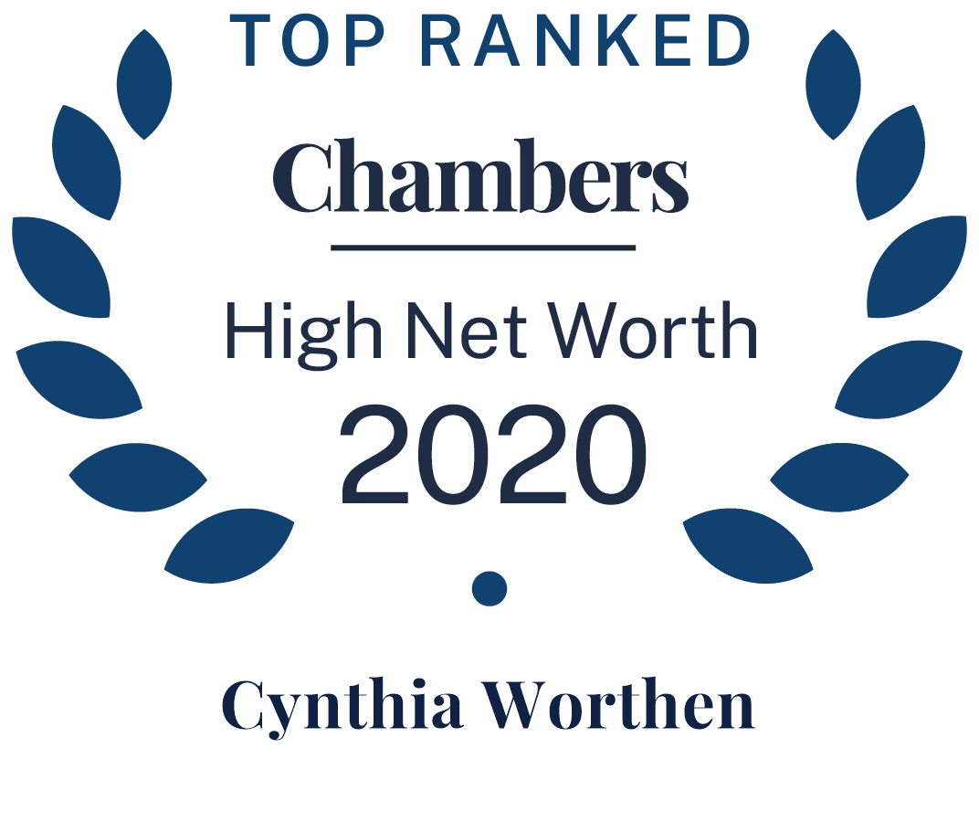 Cindy Worthen 2020 Chambers High Net Worth guide