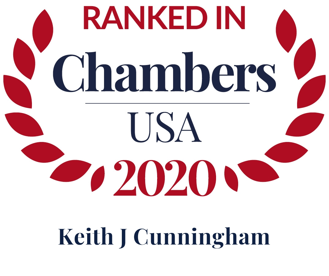 Keith Cunningham ranked in Chambers 2020