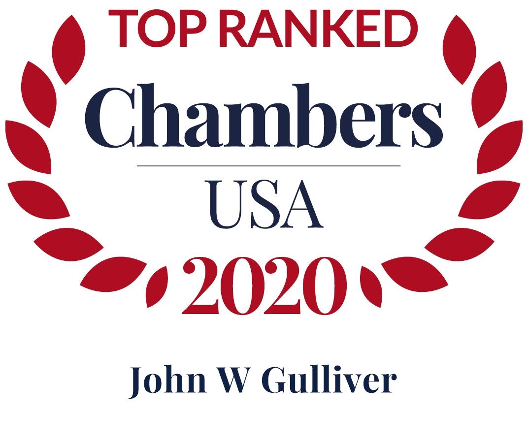 John Gulliver Ranked in Chambers USA 2020