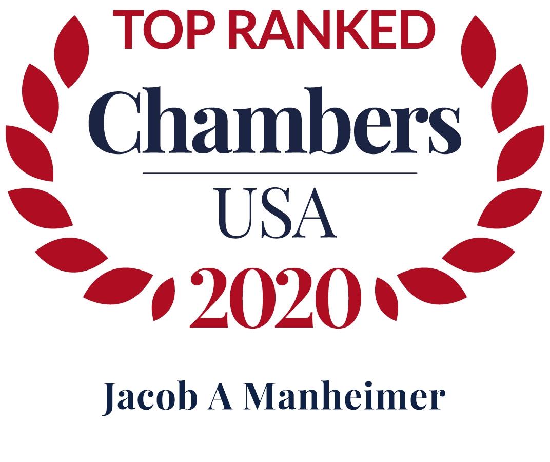 Jack Manheimer ranked by Chambers USA 2020