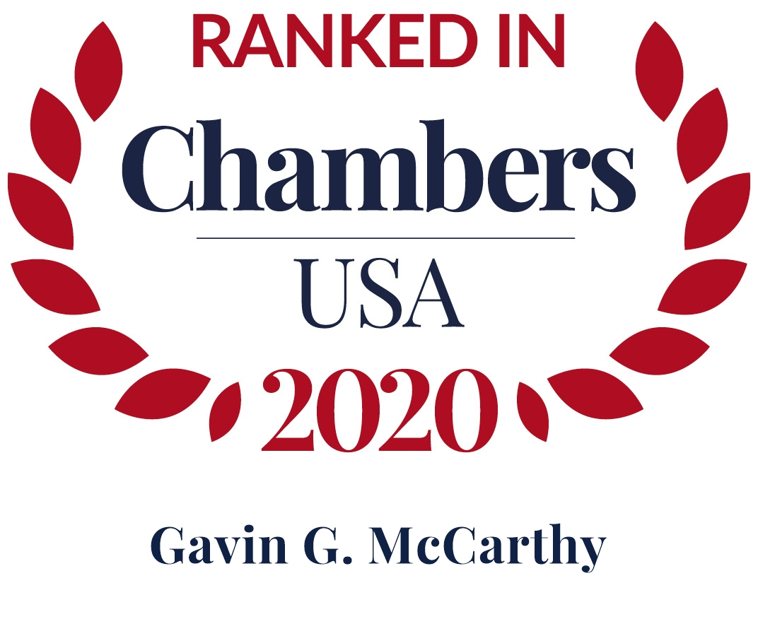 Gavin McCarthy Ranked in Chambers USA 2020